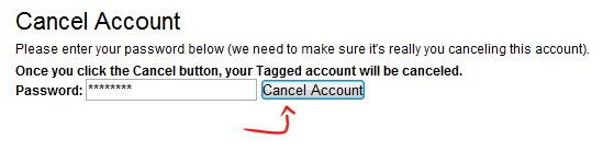 Cancel Account -confirm